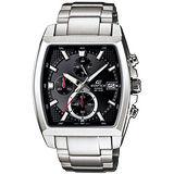 CASIO EDIFICE 爵士品味酒桶型腕錶(黑/46mm) EFR-524D-1A