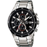 CASIO EDIFICE 活力奔放三眼計時腕錶(黑/48.1mm) EFR-519D-1A