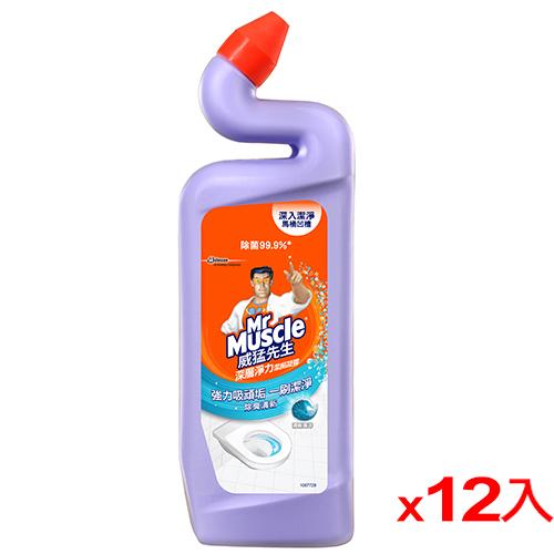 威猛先生浴廁清潔劑~清新海洋750ml^~12^(箱^)