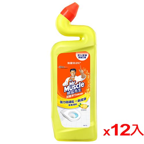 威猛先生浴廁清潔劑~清新檸檬750ml^~12^(箱^)
