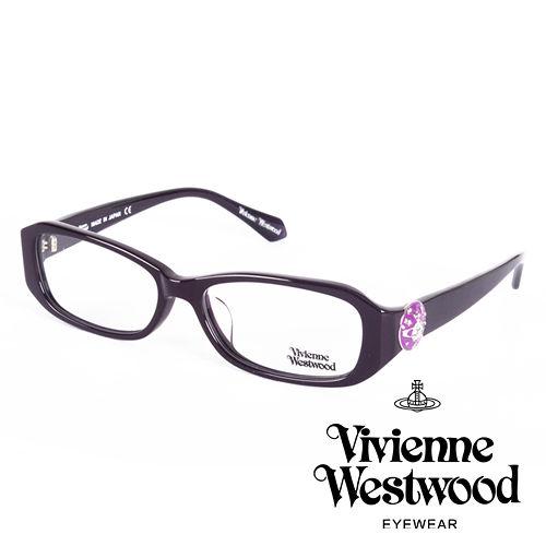 Vivienne Westwood 英國薇薇安魏斯伍德立體土星環鈕扣款^(紫^)VW266