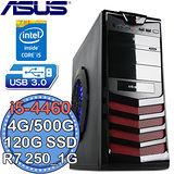 華碩B85平台【極速撼動2號】Intel第四代i5四核 R7 250-1G獨顯 SSD 120G+500G 燒錄電腦