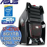 華碩Z97平台【極速撼動8號】Intel第四代i7四核 N760-2G獨顯 SSD 120G+1TB燒錄電腦