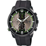 CASIO EDIFICE 頂尖精英立體錶盤計時腕錶(灰+綠/44.6mm) EFR-533PB-8A
