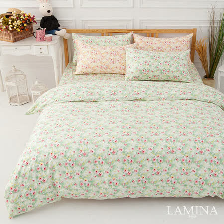 LAMINA  普羅旺斯-綠  單人二件式精梳棉床包組