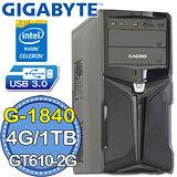技嘉B85平台【風靈御史II】Intel第四代G系列雙核 GT610-2G獨顯 1TB燒錄電腦