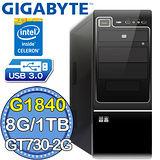技嘉B85平台【風靈刀魂II】Intel第四代G系列雙核 GT730-2G獨顯 1TB燒錄電腦
