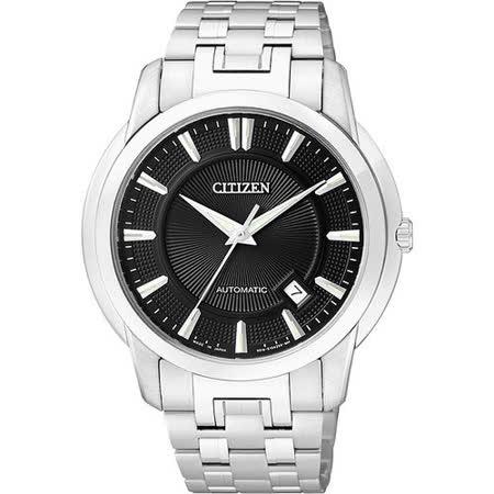 CITIZEN Mechanical 都會紳士風格機械腕錶-黑 NB0020-55E