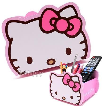 SANRIO【Hello Kitty】360°旋轉木製收納盒.