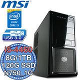 微星Z97平台【電競旋風4號】Intel第四代i5四核 N750-1G獨顯 SSD 120G+1TB燒錄電腦