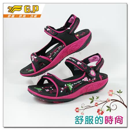 【G.P】時尚精美水鑽機能涼鞋~G9195W-15(黑桃色)共三色