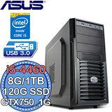 華碩H97平台【電競旋風6號】Intel第四代i5四核 GTX750-1G獨顯 SSD 120G+1TB燒錄電腦