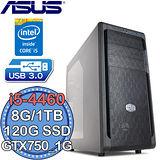 華碩Z97平台【電競旋風7號】Intel第四代i5四核 GTX750-1G獨顯 SSD 120G+1TB燒錄電腦