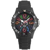 Hello Kitty x AMONNLISA 煙花綻放運動腕錶-黑
