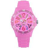 Hello Kitty x AMONNLISA 煙花綻放運動腕錶-粉紅