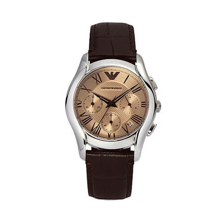 ARMANI Classic 羅馬計時腕錶-咖啡 AR1785