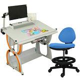 HAPPYHOME 拉克斯兒童成長書桌椅組DE-100A/C/M1/12色可選
