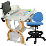 HAPPYHOME 傑尼茲兒童成長書桌椅組DE-100A/C/M3/12色可選