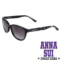 Anna Sui安娜蘇日本Dolly Girl系列經典洋娃娃元素造型太陽眼鏡‧黑【DG801962】