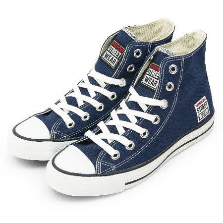 女 VISION STREET WEAR 經典帆布鞋 深藍 V22006