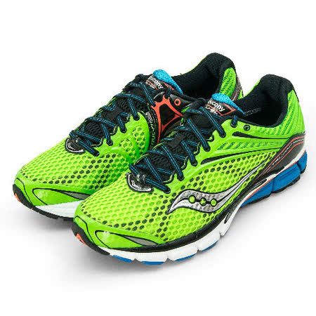 【SAUCONY】男--專業頂級慢跑鞋 鞋霸 TRIUMPH 11 螢光綠 20223-2