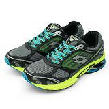 男 LOTTO 碟型避震科技跑鞋--Syn-Pulse--灰綠藍--1525
