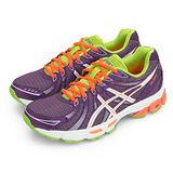 女 asics亞瑟士慢跑鞋--GEL-EXALT--紫綠橘--T379N-3601