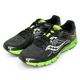 【SAUCONY】男--專業慢跑鞋 自然系列 MIRAGE 4 黑綠 20221-3
