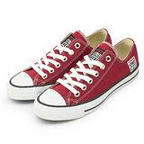 女 VISION STREET WEAR 經典帆布鞋 棗紅 V22009