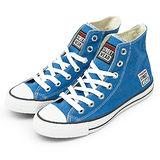 女 VISION STREET WEAR 經典帆布鞋 藍 V22010