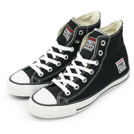 女 VISION STREET WEAR 經典帆布鞋 黑 V22001