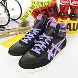 女 asics時尚鞋 MANAMI MT 黑紫H171L-9033