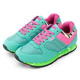 【PONY】女-- 繽紛韓風復古慢跑鞋 SOLA-V 水綠桃 9344SO22BG