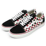 男 VANS 復古休閒鞋--Old Skool--Van Doren--黑紅米格--41010511