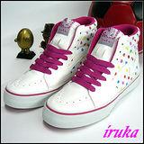 IRUKA日系帆布鞋  白粉  AWC5529  女