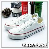 【女】CONVERSE帆布鞋  ALL STAR白短基本款170417