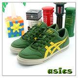 (女)【asics】經典復古鞋AARON 綠黃 H03N-8604
