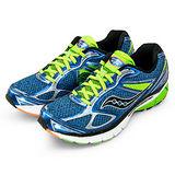 【SAUCONY】男--專業高階慢跑鞋 GUIDE 7 藍螢綠 20227-3