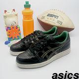 (女)【asics】經典復古鞋TOP 7 II 黑銀綠色 TQA066-9016