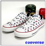 【女】CONVERSE帆布鞋  短筒  白藍紅 01U170128