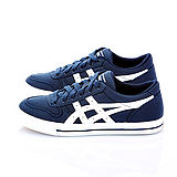 女【asics】經典帆布鞋AARON 藍白 H900Q-5001