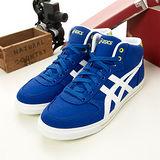 男 asics經典帆布鞋 AARON 藍白H009N-4301