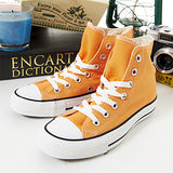 女 CONVERSE高筒帆布鞋 ALL STAR 基本款 橘 21U170441