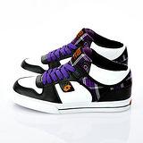 男【LOTTO】復古潮流鞋 白黑紫 AMC6067