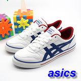 (女)【asics】經典帆布鞋AARON 白藍紅色 H900N-0150