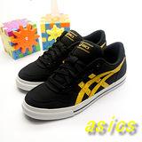 (男)【asics】經典帆布鞋AARON 黑黃色 H900N-9004