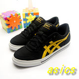 (女)【asics】經典帆布鞋AARON 黑黃色 H900N-9004