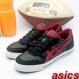 (女)【asics】經典復古鞋AARON 黑紅色 H031Y-9023