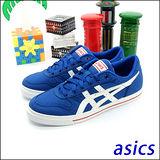 (男)【asics】經典帆布鞋AARON 藍白 H900N-4201