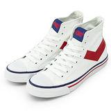 【PONY】男 經典帆布鞋 Shooter 白紅 31U1U18SW